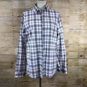 Express Extra Slim Fit Plaid Long Sleeve Button Up